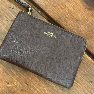 Coach Wristlet - Chocolate Brown